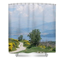 Six Islands 2 Shower Curtain