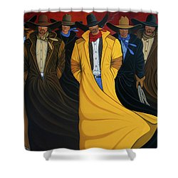 Six Pac Shower Curtain by Lance Headlee