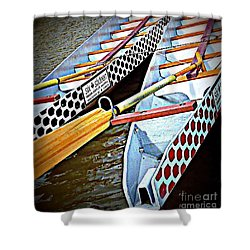 Six Sixteen Dragon Boat Shower Curtain