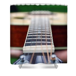 Six String Music Shower Curtain