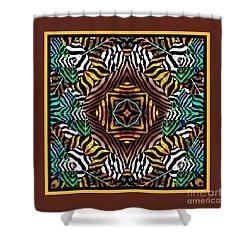 Six Zebras Shower Curtain