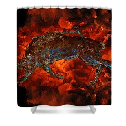 Sizzle Shower Curtain by Stuart Turnbull
