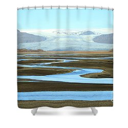 Skaftafell Glacier Shower Curtain
