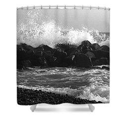 Shower Curtain featuring the photograph Skagen Waves by Randi Grace Nilsberg