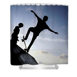Skateboarders Shower Curtain
