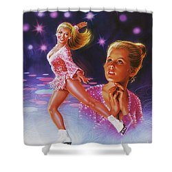 Skaters Dream Shower Curtain by Dick Bobnick