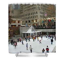 Skating In Rockefeller Center Shower Curtain