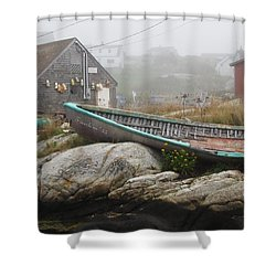 Shower Curtain featuring the photograph Skeleton Ashore by Jennifer Wheatley Wolf