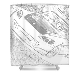 Sketched S2000 Shower Curtain by Eric Liller