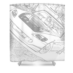 Sketched S2000 Shower Curtain