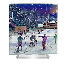 Ski Area Campton Mountain Shower Curtain