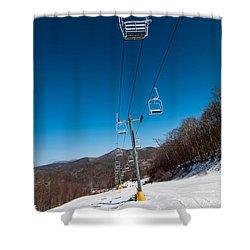 Ski Lift Shower Curtain by Alex Grichenko