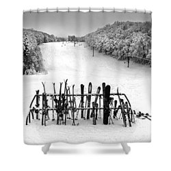 Ski Vermont At Middlebury Snow Bowl Shower Curtain