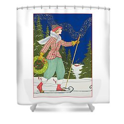 Ski Vogue Shower Curtain