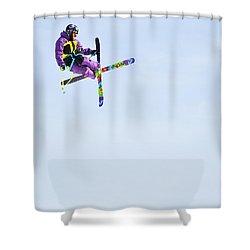 Ski X Shower Curtain