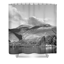 Skiddaw And Friars Crag Mountainscape Shower Curtain