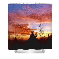 Shower Curtain featuring the photograph Skies Ablaze by Sadie Reneau