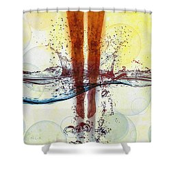 Skinny Dipping Shower Curtain by Bob Orsillo