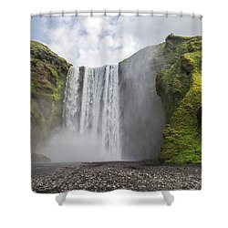 Skogarfoss Waterfall Shower Curtain