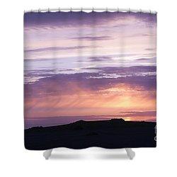 Skomer Sunset Shower Curtain by Anne Gilbert