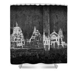 Skc 0003 Temple Complex Shower Curtain by Sunil Kapadia