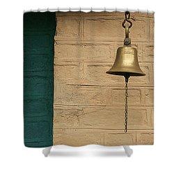 Skc 0005 A Doorbell Shower Curtain by Sunil Kapadia
