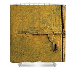 Skc 0047 The Door Latch Shower Curtain by Sunil Kapadia