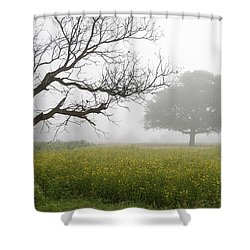Skc 0058 Contrasty Trees Shower Curtain