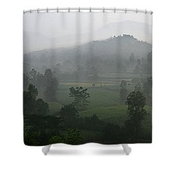 Skc 0079 A Winter Morning Shower Curtain by Sunil Kapadia