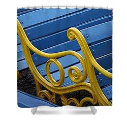 Skc 0246 The Garden Benches Shower Curtain by Sunil Kapadia