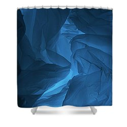 Skc 0247 A Mystery In Blue Shower Curtain by Sunil Kapadia