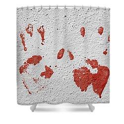 Skc 1058 Palm Impressions Shower Curtain by Sunil Kapadia
