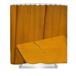 Skc 1496 A Tea Shack Bench Shower Curtain by Sunil Kapadia