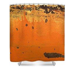 Skc 1505 Peeled Paint Shower Curtain by Sunil Kapadia