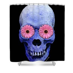 Skull Art - Day Of The Dead 1 Shower Curtain by Sharon Cummings
