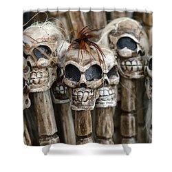 Skull Sticks Shower Curtain
