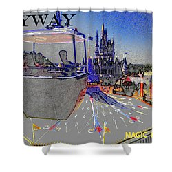 Skway Magic Kingdom Shower Curtain by David Lee Thompson