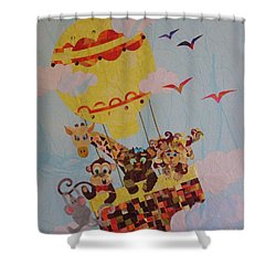 Sky Adventurers Shower Curtain