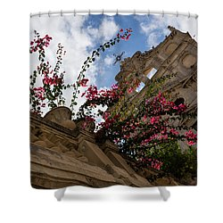 Shower Curtain featuring the photograph Sky Blossoms by Georgia Mizuleva