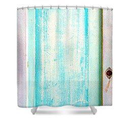 Sky Blue Entrance Entre Vous Shower Curtain by Asha Carolyn Young