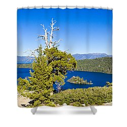 Sky Blue Water - Emerald Bay - Lake Tahoe Shower Curtain