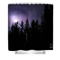 Sky Bolt Shower Curtain