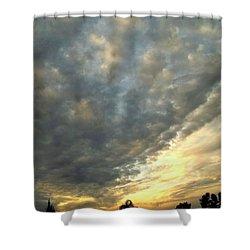Sky Canvas Shower Curtain by Glenn McCarthy Art and Photography