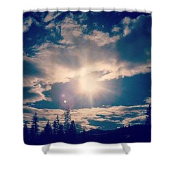 #sky #clouds #nature #trees #california Shower Curtain by Jennifer Beaudet