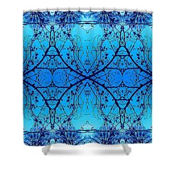 Shower Curtain featuring the photograph Sky Diamonds Abstract Photo by Marianne Dow