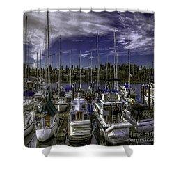 Shower Curtain featuring the photograph Sky Embrace by Jean OKeeffe Macro Abundance Art
