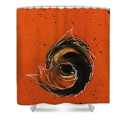 Shower Curtain featuring the painting Sky Flier by Jason Girard