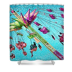 Shower Curtain featuring the digital art Sky Flyer by Jennie Breeze