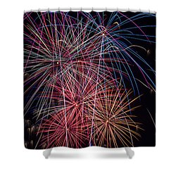Sky Full Of Fireworks Shower Curtain by Garry Gay