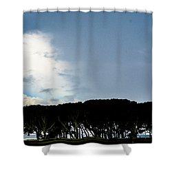 Sky Half Full Shower Curtain